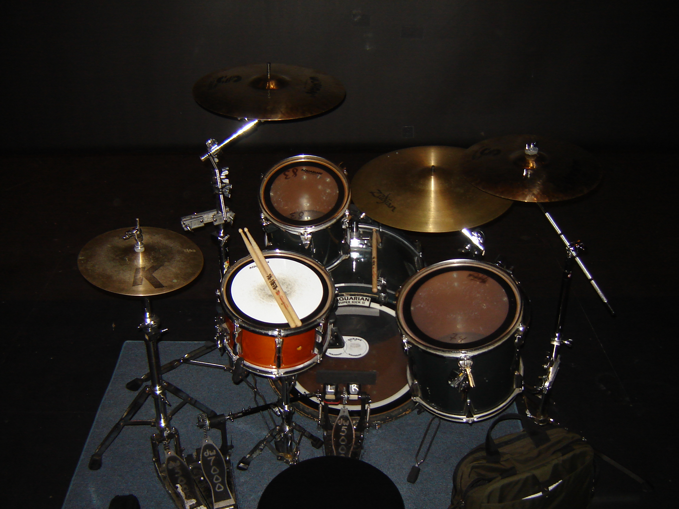 how to set up a ride cymbal